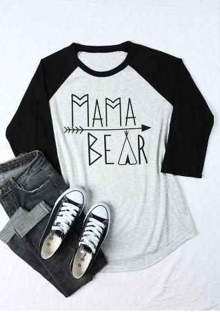 Plus Size Mama Bear Arrow Baseball T-Shirt