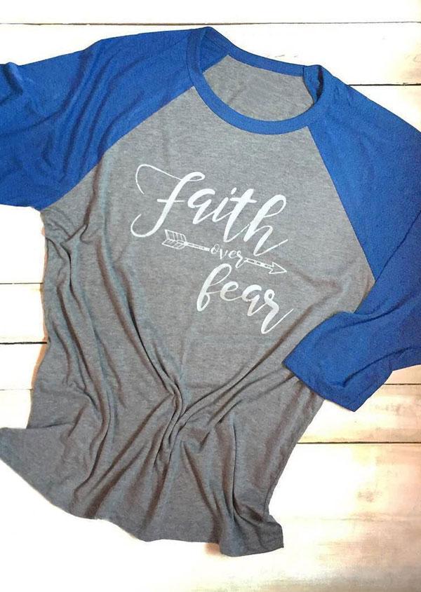 Faith Over Fear Baseball T-Shirt