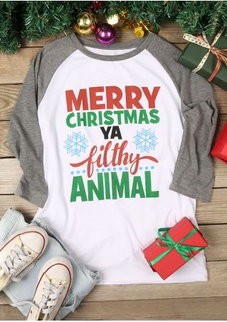e4464ef019a Merry Christmas Ya Filthy Animal Baseball T-Shirt - Fairyseason