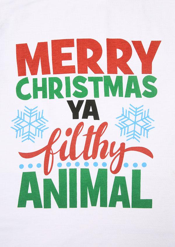 Merry Christmas You Filthy Animal T Shirt