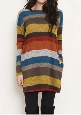 Color Block Pocket Elbow Patch Mini Dress