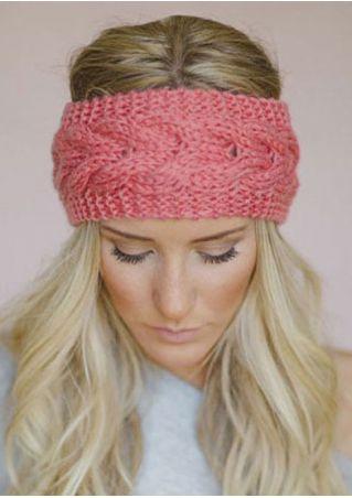 Solid Knitted Warm Headband