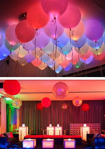 Image of 50Pcs/Bag LED Glow Lamp Balloon Paper Lantern Lights