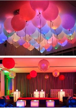 50Pcs/Bag LED Glow Lamp Balloon Paper Lantern Lights