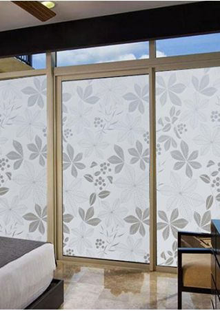 Frosted Flower Glass Sticker