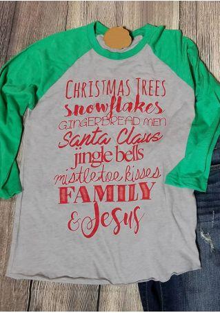 Christmas Plus Size Snowflake Santa Claus Baseball T-Shirt