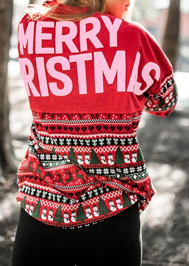 Sweatshirts Merry Christmas Snowman Batwing Sleeve Sweatshirt in Green,Red. Size: S,M,L,XL фото