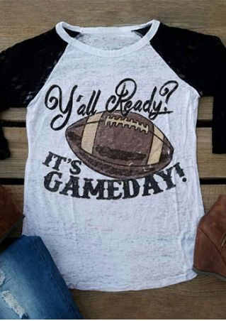 Plus Size Y'all Ready It's Gameday Baseball T-Shirt