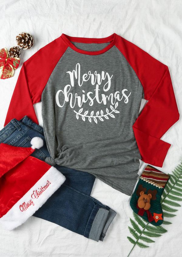 Merry Christmas Leaf Baseball T Shirt Fairyseason