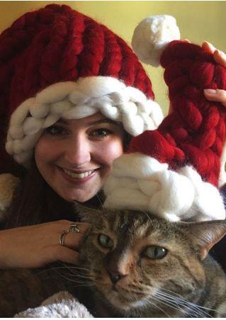Christmas Knitted Chunky Santa Hat
