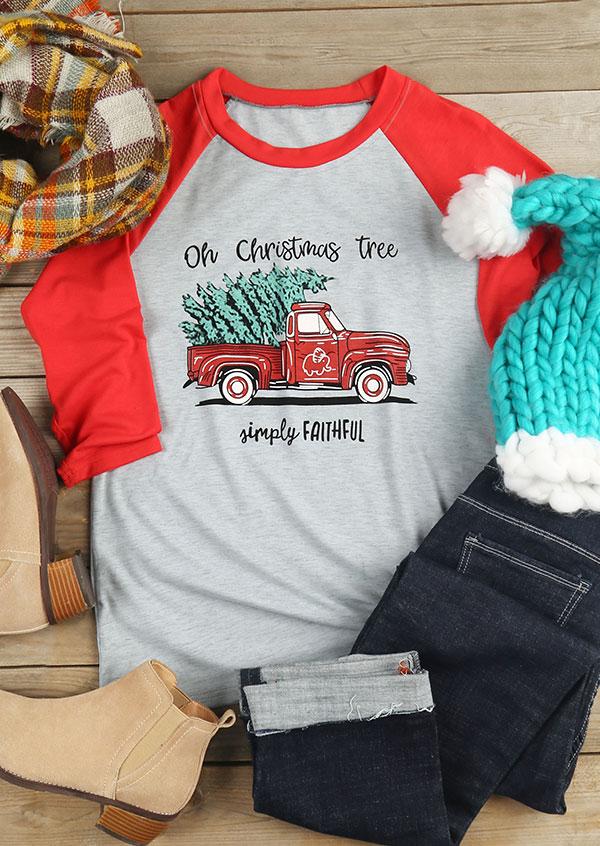 oh christmas tree simply faithful baseball t
