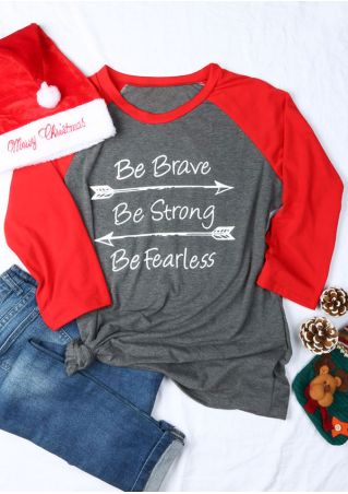 Plus Size Be Brave Be Strong Be Fearless Baseball T-Shirt