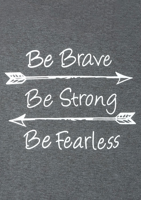 Plus Size Be Brave Be Strong Be Fearless Baseball T Shirt