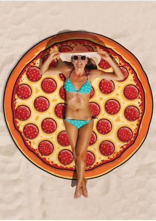 Pizza Donut Printed Picnic Blanket