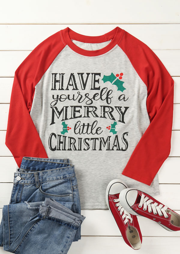 Have Yourself A Merry Little Christmas Baseball T Shirt