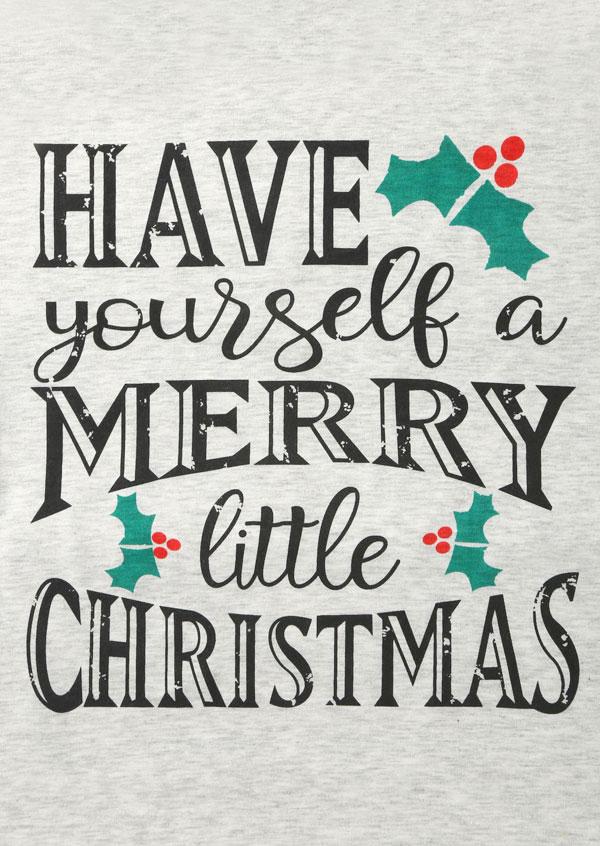 merry little christmas baseball t shirt zoom - Merry Little Christmas