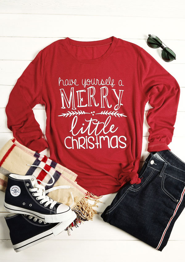 have yourself a merry little christmas t shirt zoom