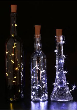 3Pcs/Set Chic Cork Shaped Wine Bottle Lamp