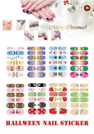 12Pcs/Set 3D Christmas Nail Art Nail Stickers