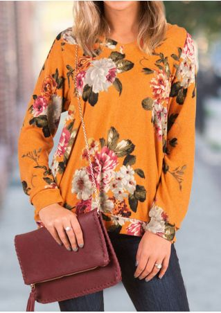 Floral Hollow Out Long Sleeve Blouse