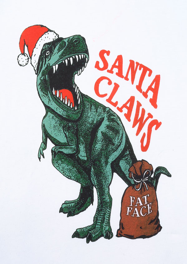 Christmas Santa Claws Dinosaur Baseball T Shirt Fairyseason