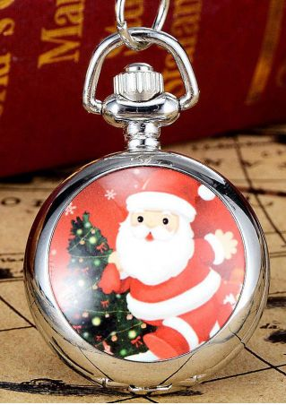 Christmas Santa Pocket Watch
