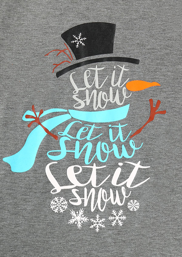 Christmas snowman let it snow baseball t shirt fairyseason