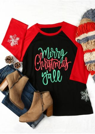Plus Size Merry Christmas Y'all Baseball T-Shirt