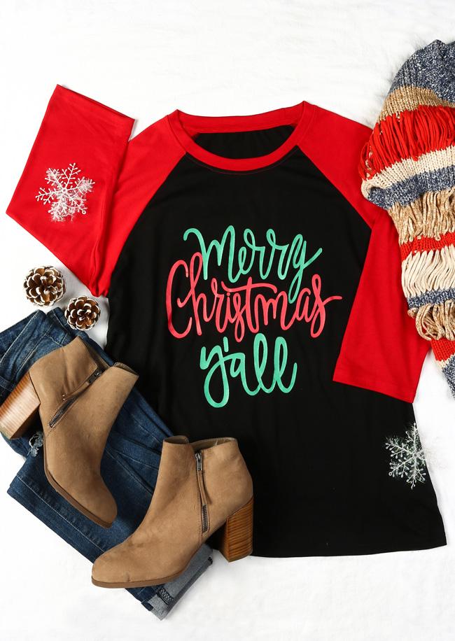 290ece63c Plus Size Merry Christmas Y'all Baseball T-Shirt - Fairyseason