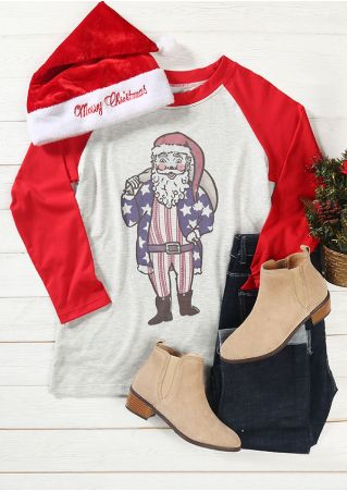 Christmas Santa Claus Baseball T-Shirt