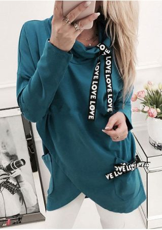 Love Asymmetric Sweatshirt without Necklace