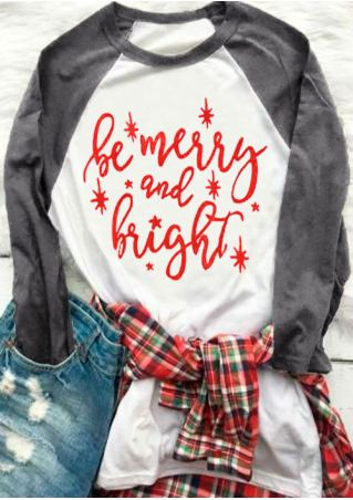 Plus Size Be Merry And Bright Baseball T-Shirt