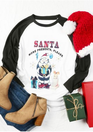 Christmas Santa More Presents Please Baseball T-Shirt