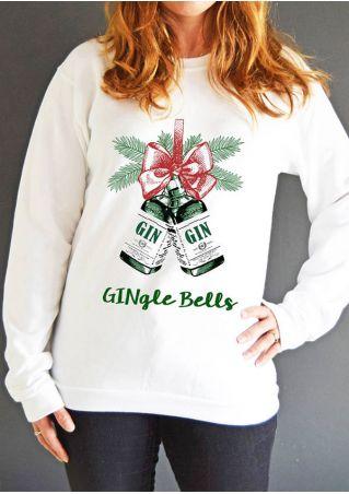 Christmas Gingle Bells O-Neck Long Sleeve Sweatshirt