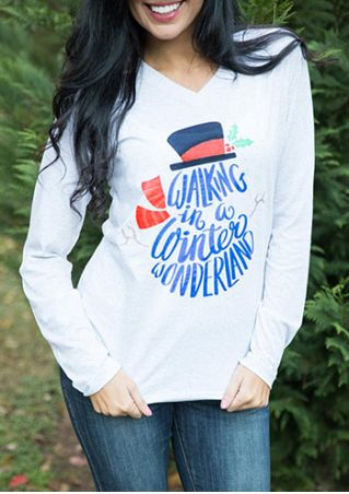 Christmas Walking In A Winter Wonderland  T-Shirt