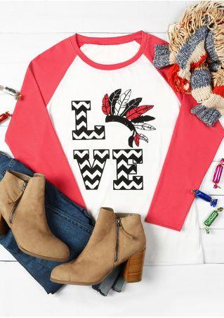 Love Indian Headdress O-Neck Baseball T-Shirt