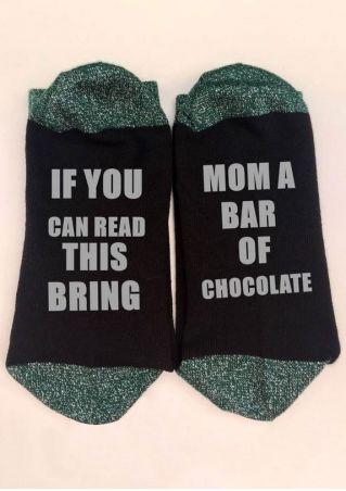Bring Mom A Bar Of Chocolate Socks