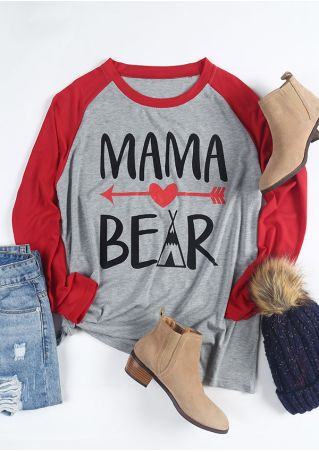 Plus Size Mama Bear Arrow Baseball T-Shirt