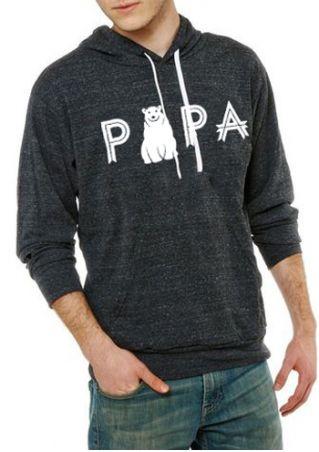 PAPA Bear Drawstring Long Sleeve Hoodie