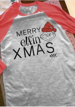 Christmas Merry Elfin Grinchmas Baseball T-Shirt