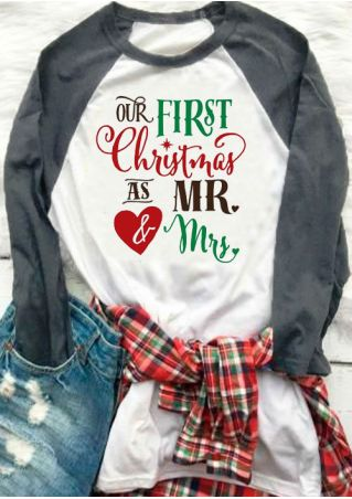 Our First Christmas As Mr & Mrs Baseball T-Shirt
