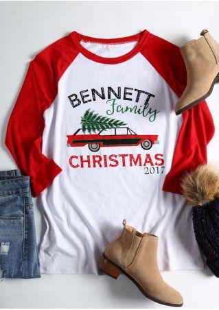 Bennett Family Christmas 2017 Baseball T-Shirt