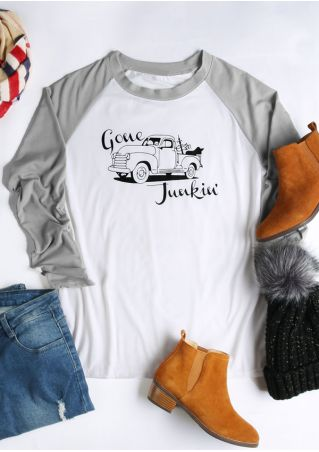 Gone Junkin' Car  Baseball T-Shirt