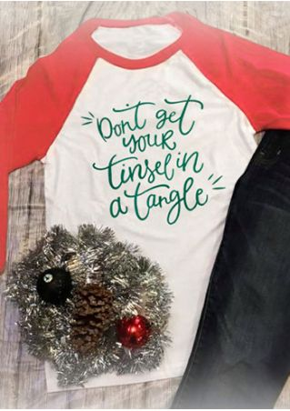 Plus Size Don't Get Your Tinsel In A Tangle Baseball T-Shirt