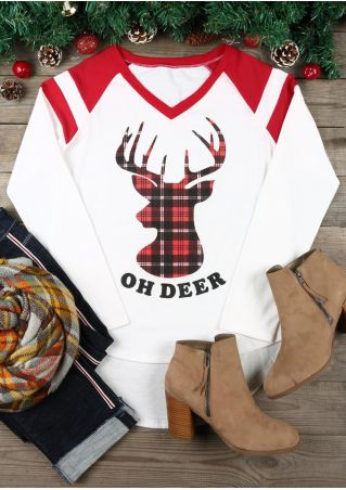 Christmas Oh Deer Baseball T-Shirt