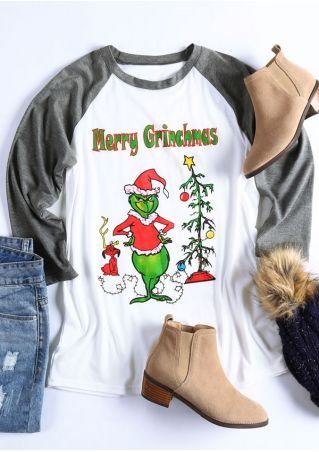 Christmas Merry Grinchmas Tree O-Neck Baseball T-Shirt