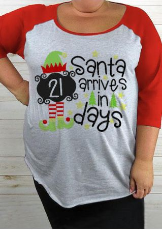 Christmas Plus Size Santa Arrives In Days Baseball T-Shirt