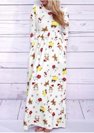 Christmas Gingerbread Man Bell Maxi Dress