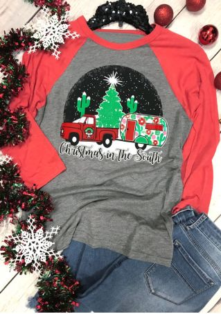Christmas In The South O-Neck Baseball T-Shirt