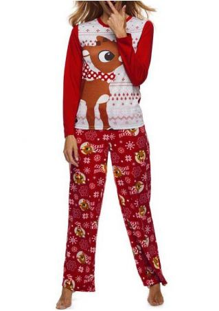 Christmas Reindeer Splicing Pajamas